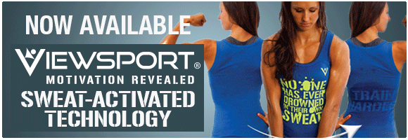 Viewsport Sweat-Activated Technology, available at Tiny Fish Printing!
