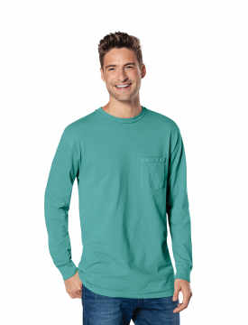 5c1a9049 Port and Company Pigment-Dyed Long Sleeve Pocket Tee PC099LSP